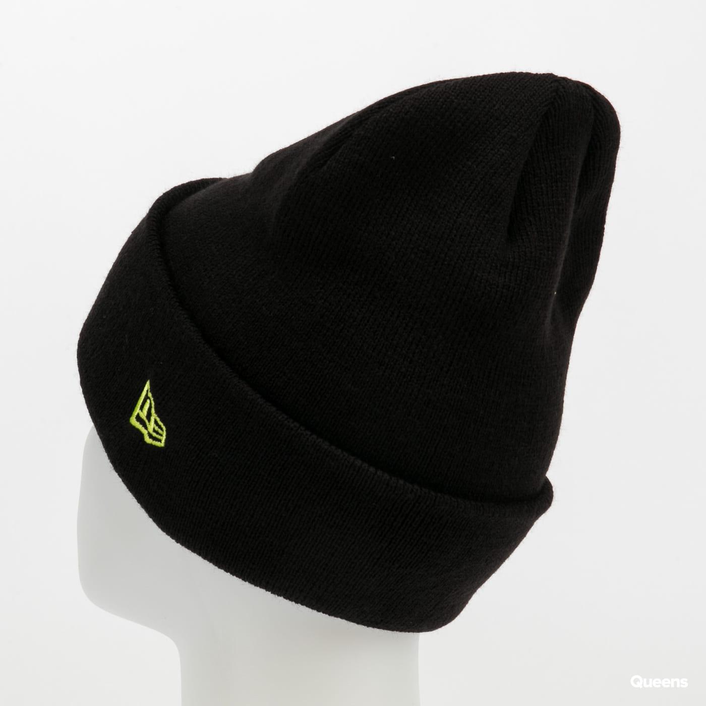 New Era MLB League Essential Cuff Knit NY black / yellowgreen