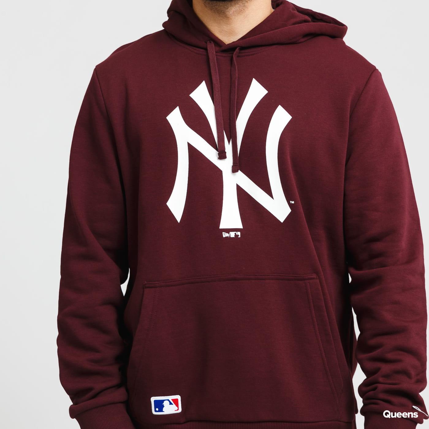 New Era MLB Team Logo PO Hoody NY vínová