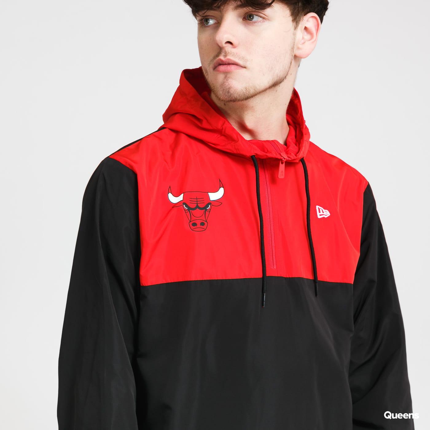 New Era NBA Colour Block Windbreaker Chicago Bulls černá / červená