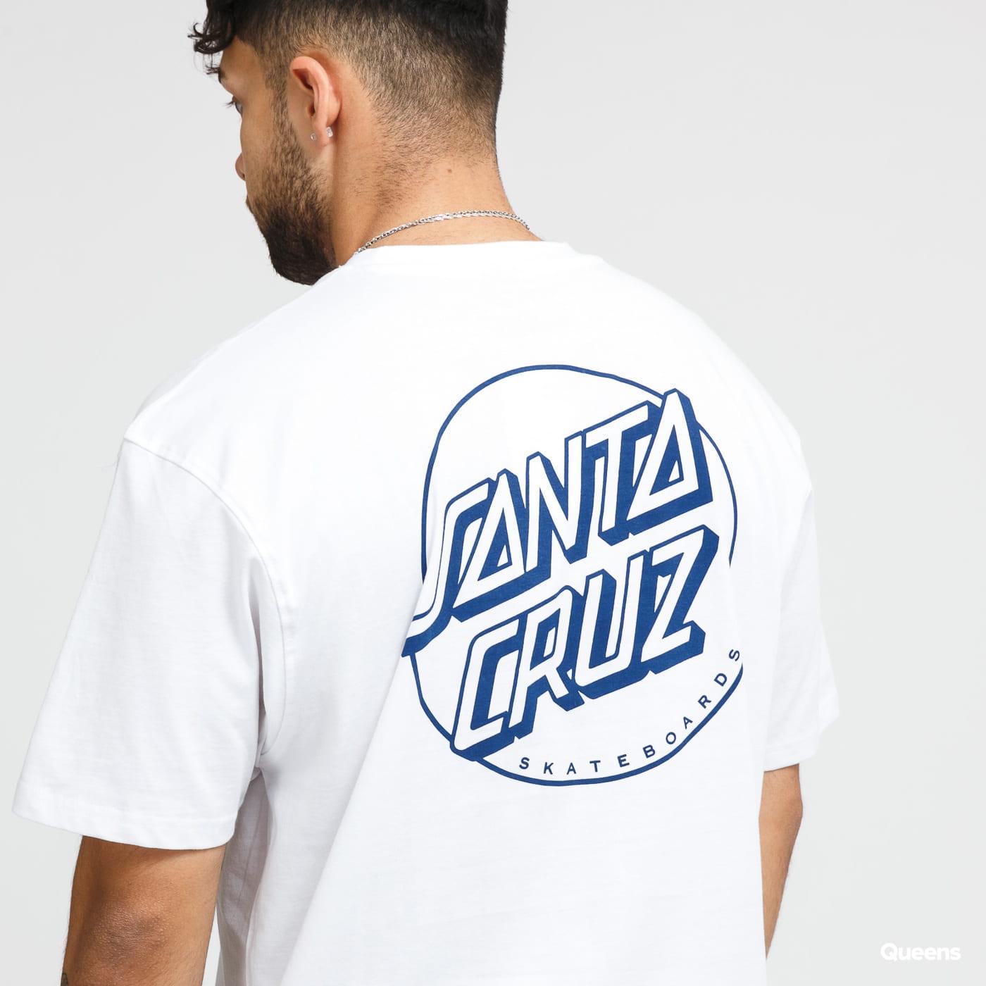 Santa Cruz Opus Dot Stripe Tee bílé