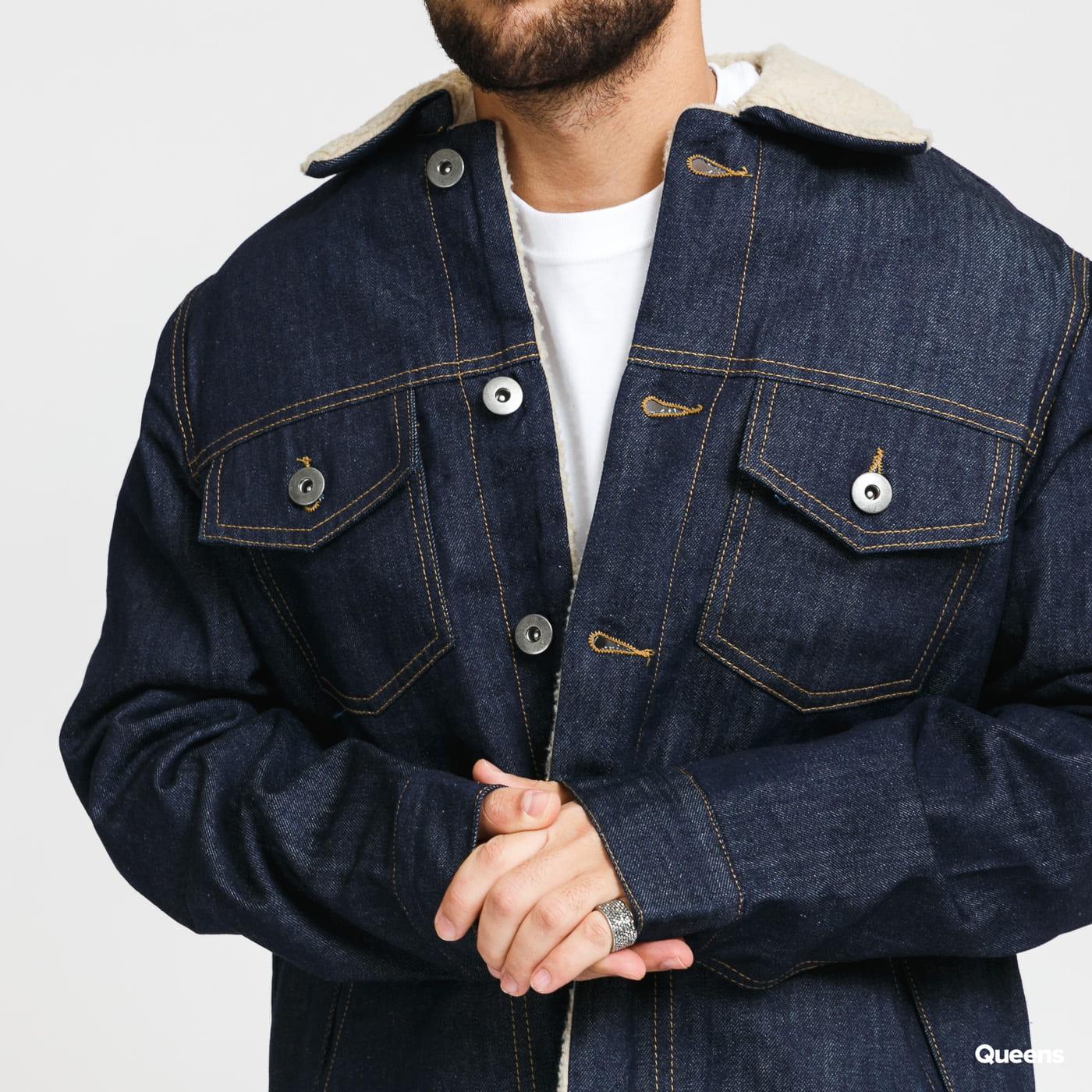 Urban Classics Sherpa Lined Jeans Jacket rinsed denim