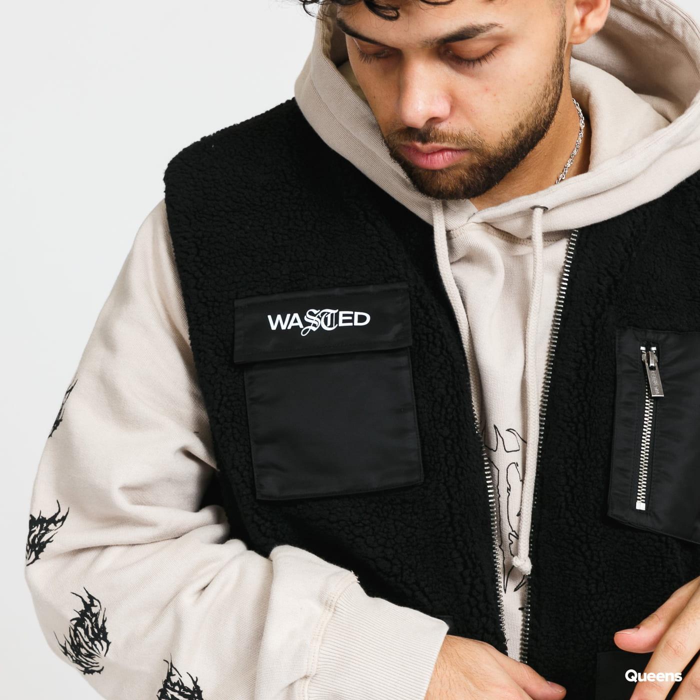 Wasted Paris Mountain Reversible Vest black