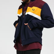 FRED PERRY Colour Block Track Jacket navy / vínová / žlutá / bílá