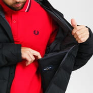 FRED PERRY Hooded Insulated Jacket černá