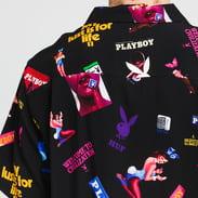 HUF Playboy Collage Woven Top černá / multicolor