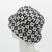 HUF Playboy Reversible Bucket Hat černý / bílý