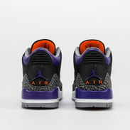 Jordan Air Jordan 3 Retro black / court purple - cement grey