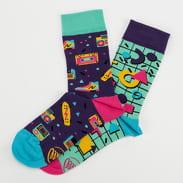 Many Mornings Back To The 90's Socks mentolové / fialové / růžové / žluté