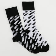 Many Mornings Brush Strokes Socks černé / bílé