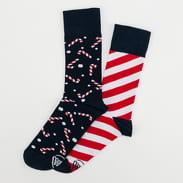 Many Mornings Sweet X-Mas Socks navy / bílé / červené