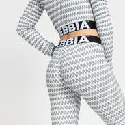 Nebbia Boho Style 3D Pattern Leggings bílé / šedé