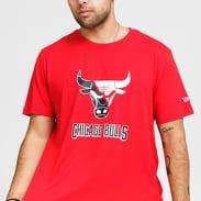 New Era NBA Split Logo Tee Chicago Bulls červené
