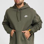Nike M NSW Club Hoodie PO BB olivová