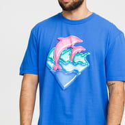 Pink Dolphin Nos Waves Tee modré