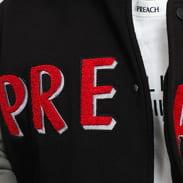 PREACH College Jacket černá / šedá