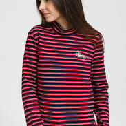 Stüssy Toro Stripe Turtleneck červené / černé / navy / bílé