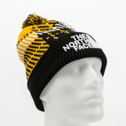 The North Face Retro Pom Beanie žlutý / černý / bílý