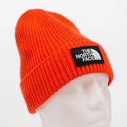 The North Face TNF Logo Box Cuff Beanie oranžový
