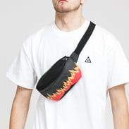 Urban Classics Flame Primt Leather Imitation Hip Bag černá