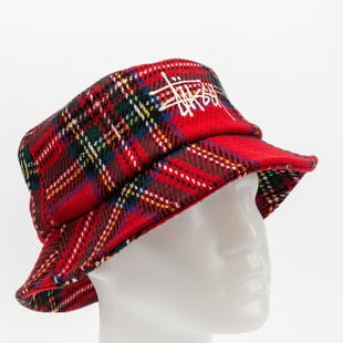 Stüssy Big Logo Plaid Bucket Hat