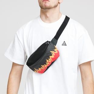 Urban Classics Flame Primt Leather Imitation Hip Bag