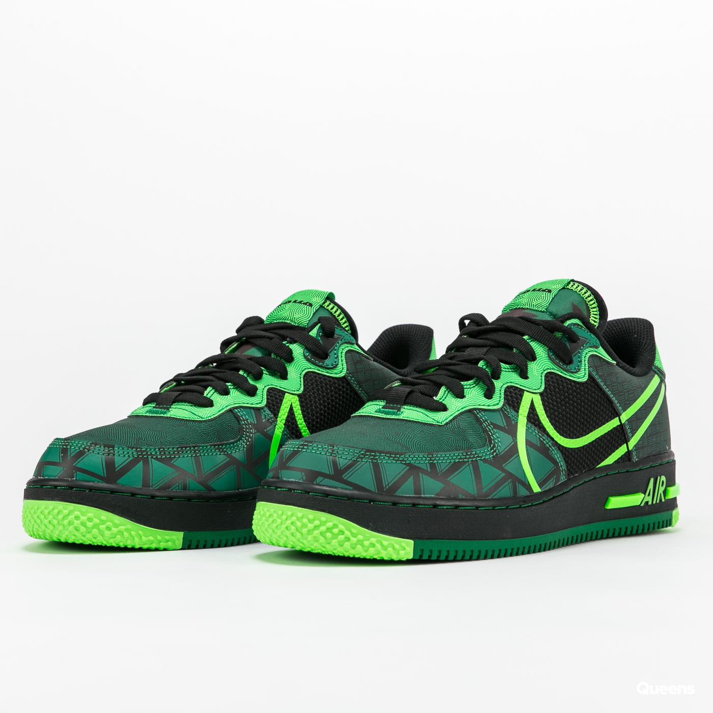 Sneakers Nike Air Force 1 React QS black / green strike - pine ...