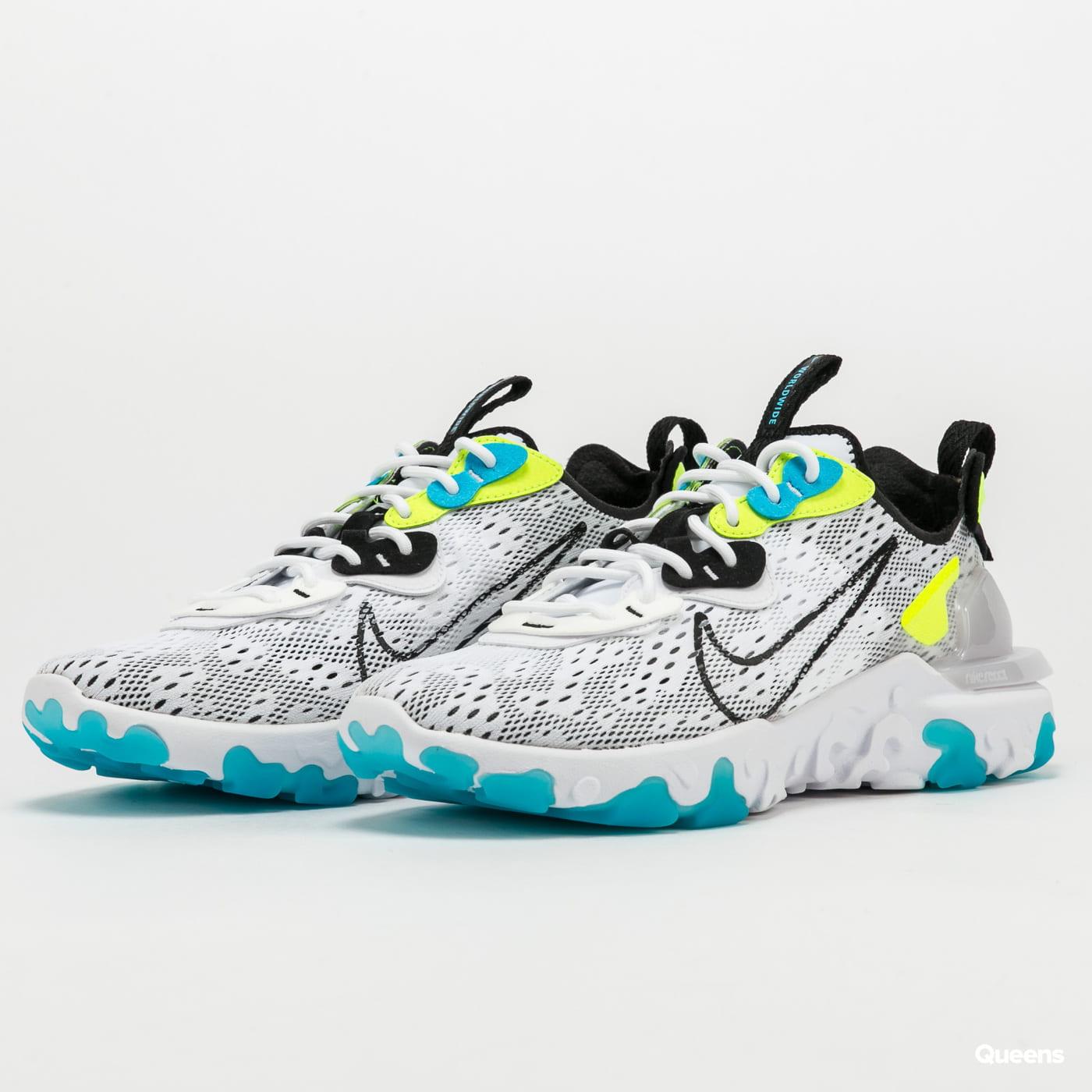 Sneakers Nike React Vision WW white / black - volt - blue fury ...