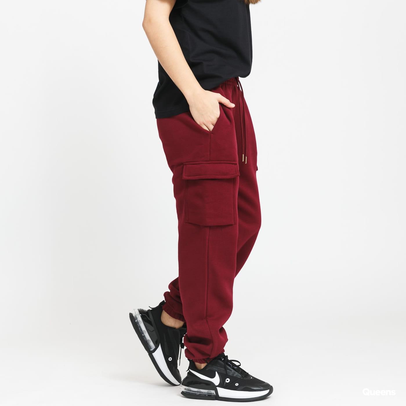 Nike W NSW Cargo Pant Loose Fleece bordeaux