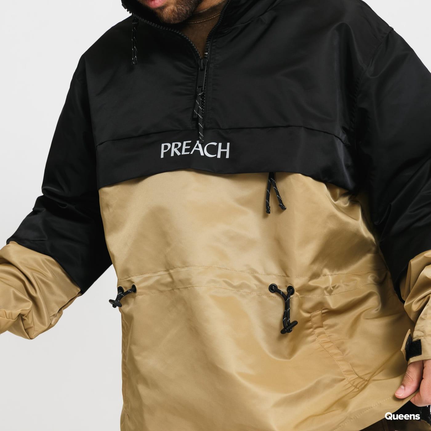 PREACH Windbreaker černá / béžová