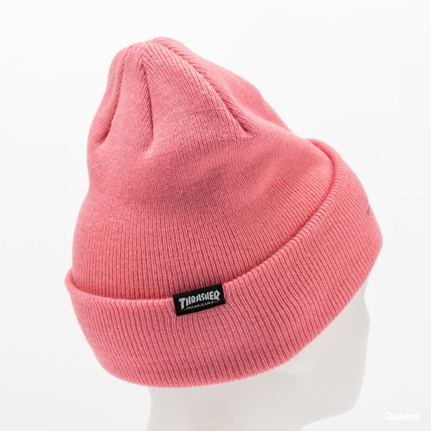 Thrasher Gonz SAD Logo Beanie růžový
