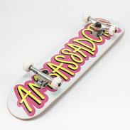 Ambassadors Komplet Skateboard Fresh bílý / růžový / žlutý