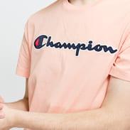 Champion Logo Crew Neck Tee světle růžové