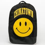 Chinatown Market Smiley Backpack černý / žlutý