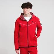 Nike M NSW Tech Fleece FZ Hoodie 2 Tone červená