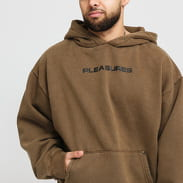 PLEASURES Burn Out Dyed Hoody khaki