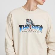 Thrasher Leopard Mag Long Sleeve béžové