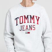 TOMMY JEANS M Plaid Tommy Grap melange šedá