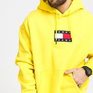 TOMMY JEANS M Small Flag Hoodie žlutá