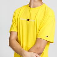 TOMMY JEANS M Straight Logo Tee žluté