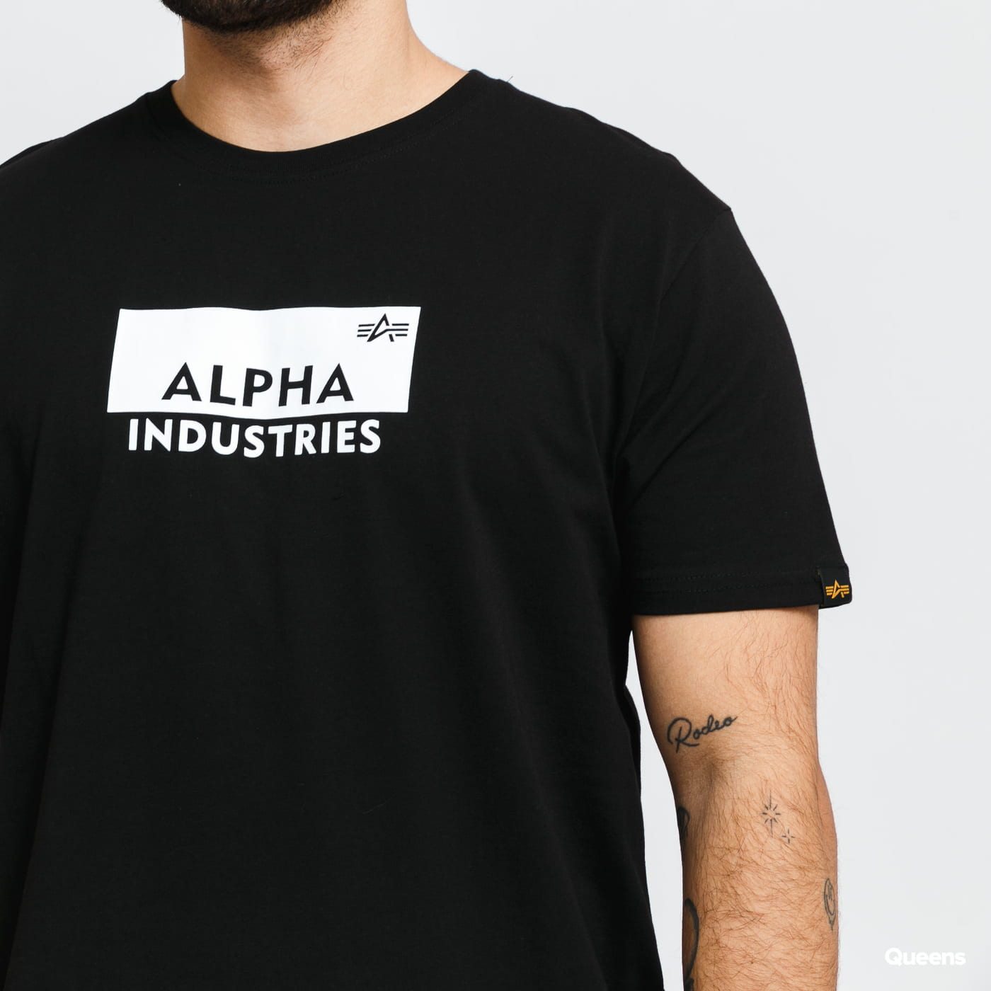 Alpha Industries Box Logo Tee černé