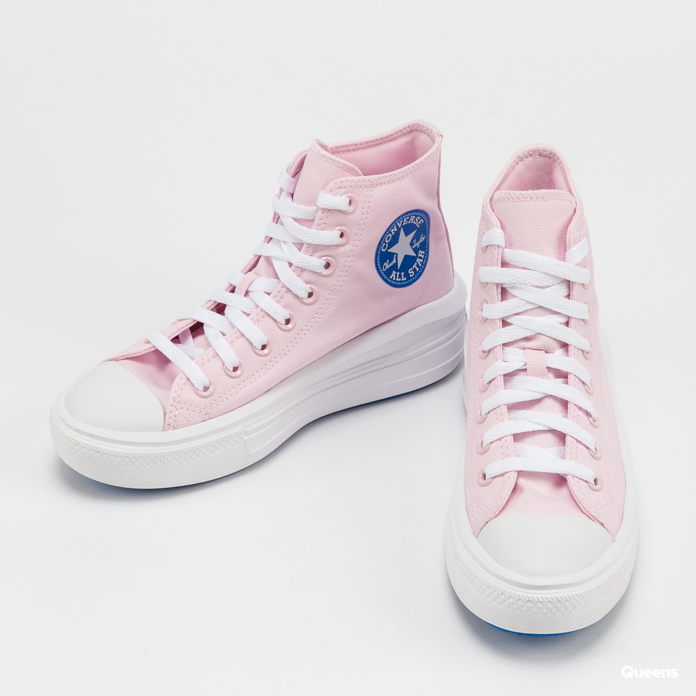 Converse Chuck Taylor All Star Move Hi pink foam / digital blue / white