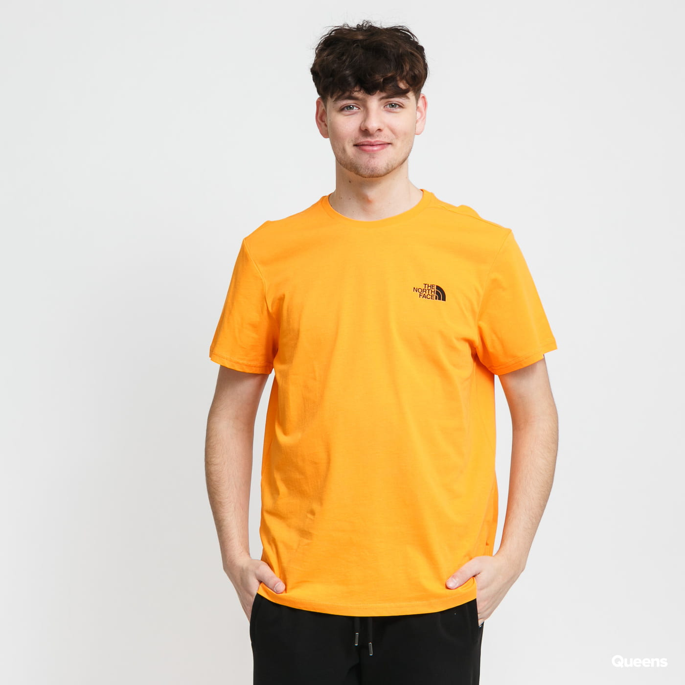 The North Face M SS Simple Dome Tee orange