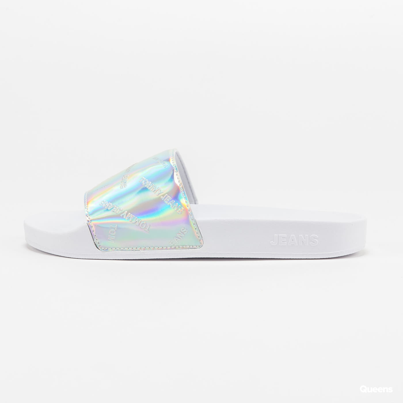 TOMMY JEANS Iridescent Pool Slide white