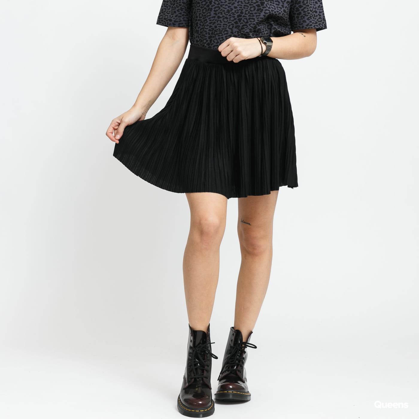 Urban Classics Ladies Jersey Pleated Mini Skirt černá