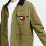 TOMMY JEANS M Badge Worker Jacket olivová