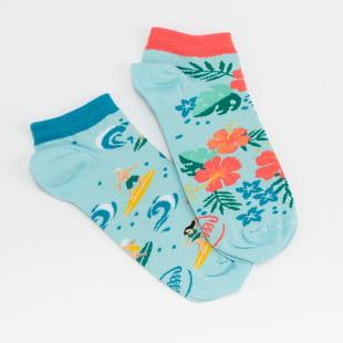 Many Mornings Aloha Vibes Low Socks