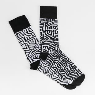 Many Mornings Black Maze Socks