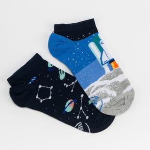 Many Mornings Space Trip Low Socks