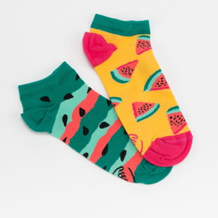 Many Mornings Watermelon Splash Low Socks