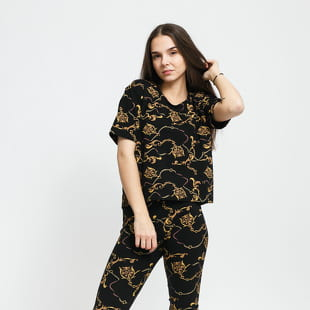 Urban Classics Ladies AOP Luxury Print Short Oversized Tee